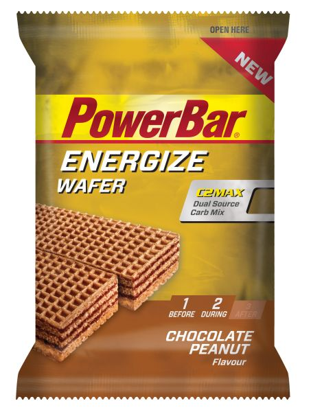 Powerbar Energize Wafer Bar - čokoláda+arašídy 40 g