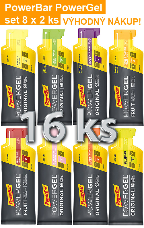 PowerBar Powergel - set 16 ks