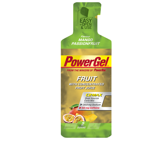 PowerBar Fruitgel - mango-mučenka+guarana (kofein) 41 g